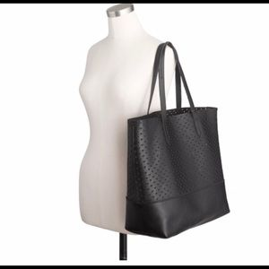 J. Crew Bags - J Crew Downing Perforated Hearts Leather Tote Bag